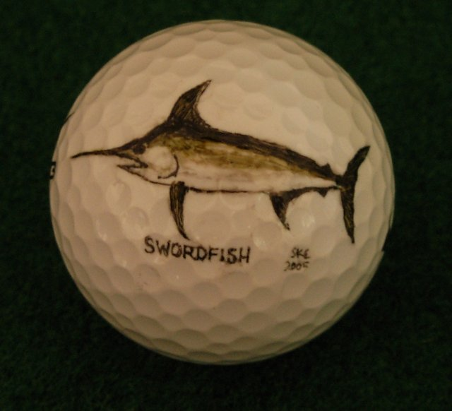 Swordfish Golf Ball