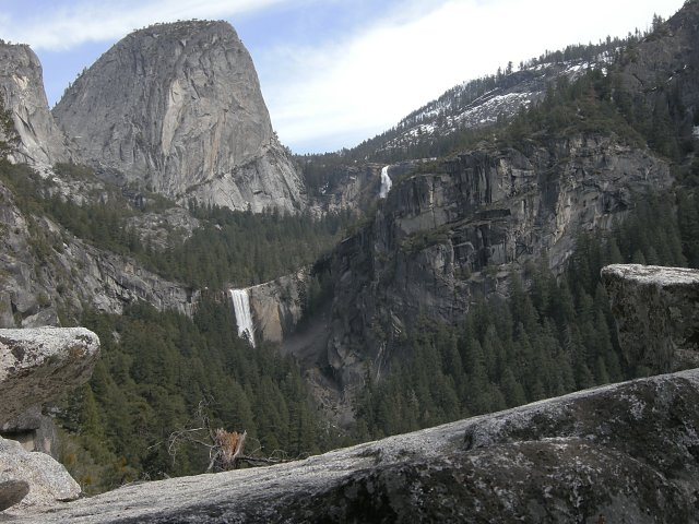 Vernal and Nevada Falls from Sierra Point
