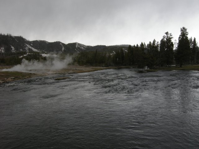 Firehole River on a Stormy Day