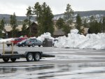 Old Faithful Parking Lot