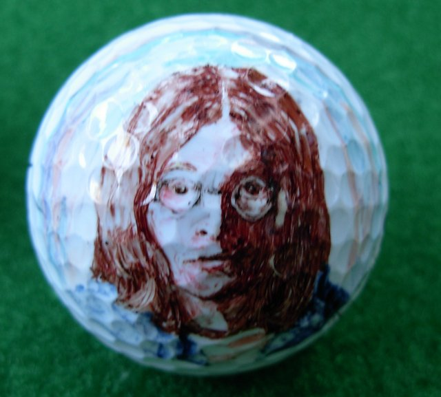 John Lennon Golf Ball