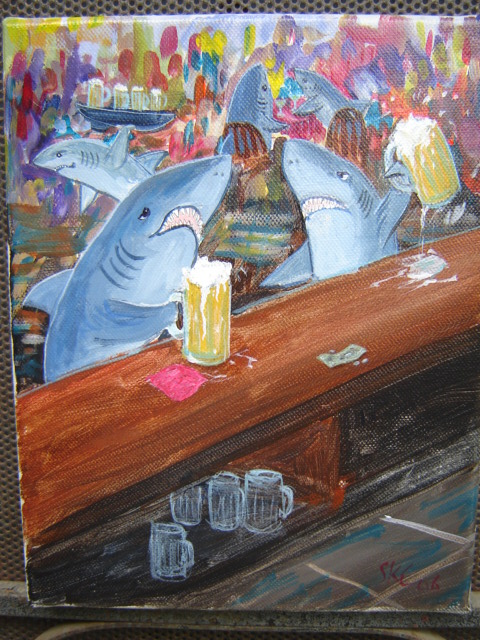 Sharks and Beer at the Bar