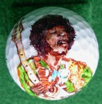 Jimmi Hendrix Golf Ball 2