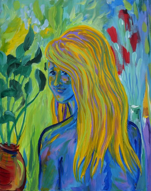 Impression of Blond in Blue