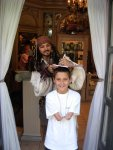 Russell and Captain Jack Sparrow