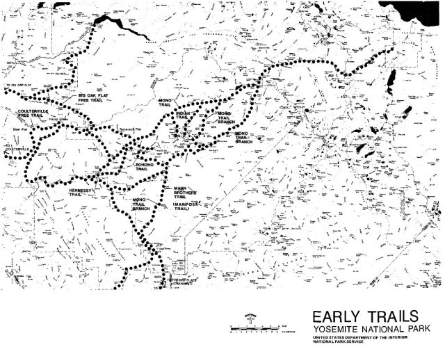 Map of Early Yosemite Trails
