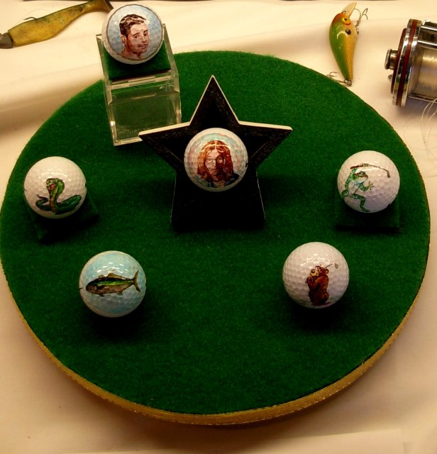 Golf ball display for Fathers Day