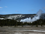 Daisy Geyser Erupting from Grand