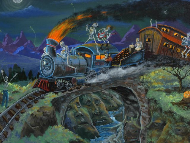 The CRAZY TRAIN (acrylic painting on canvas)