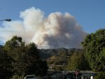 Smoke from the Morris Fire as seen from Glendora, California