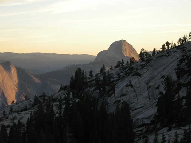 Sunset on Half Dome from Olmsted Point