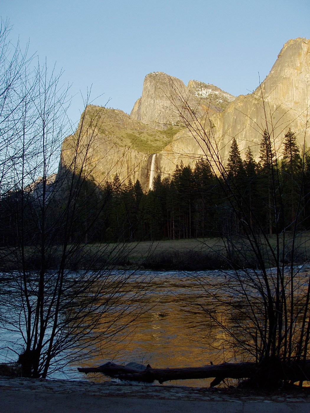 End of the Day: Merced River and Bridalveil Fall