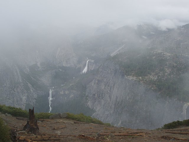 Waterfalls and Fog