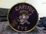 "SKE's design for the Rock Band ""CAPITOL EYE"" bass drum."