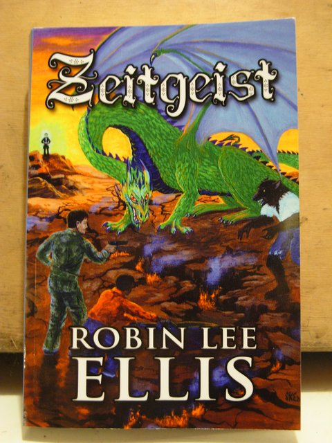 """Zeitgeist"" book by Robin Lee Ellis. Cover art by ""SKE"""