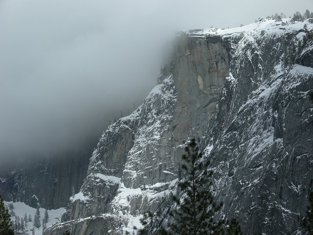 Half Dome Lost in Clouds