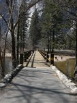 Swinging Bridge in Yosemite Valley
