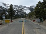 Locked gate on Highway 120 below Tioga Pass