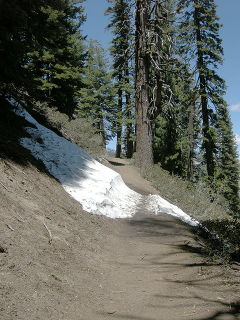 Still some snow on the Four Mile Trail