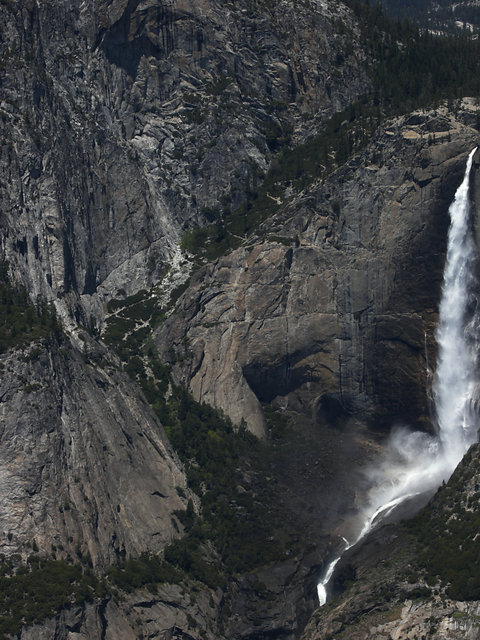 View of the Yosemite Falls Trail