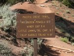 Mount Baden-Powell Trialhead Sign
