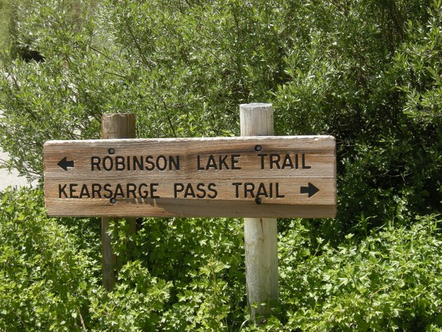 Kearsarge Pass Trail Sign