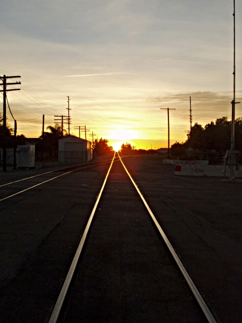 Sunset on the Old ATSF Mainline