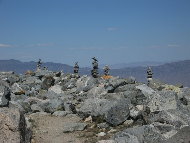 Rock Piles on the Kearsarge Pass Trail