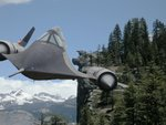 The Chick-on riding an SR-71 in Yosemite near Glacier Point