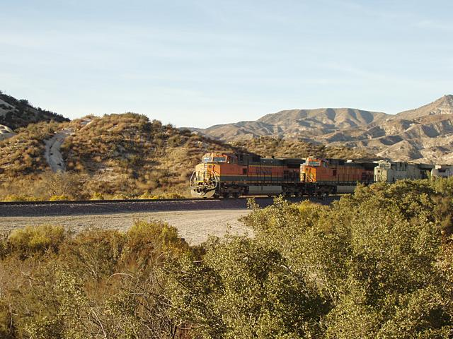 BNSF Coming Down Cajon Pass