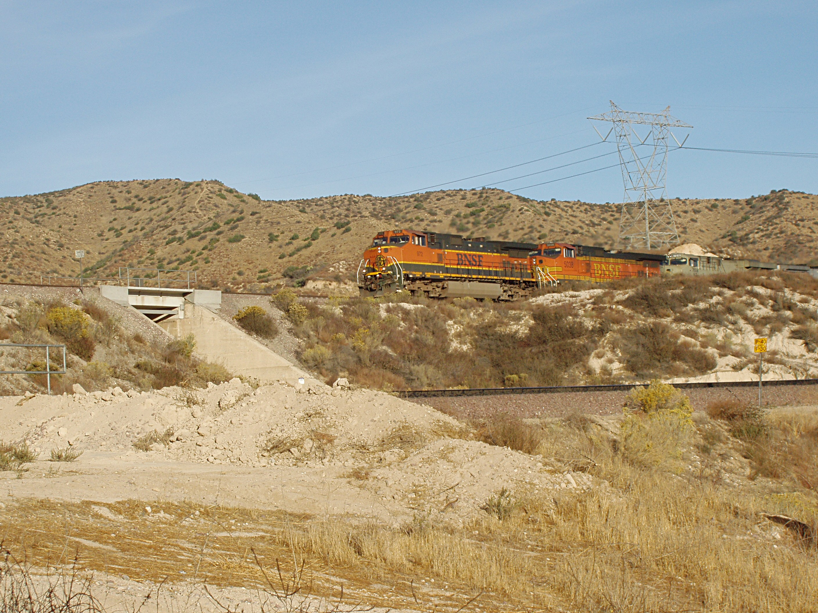 BNSF Train Coming Down from Cajon Pass