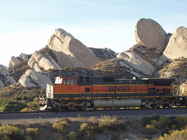 BNSF Train at Mormon Rocks