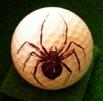 Black Widow on golf ball
