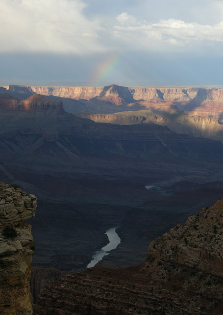 Rainbow with the Colorado River