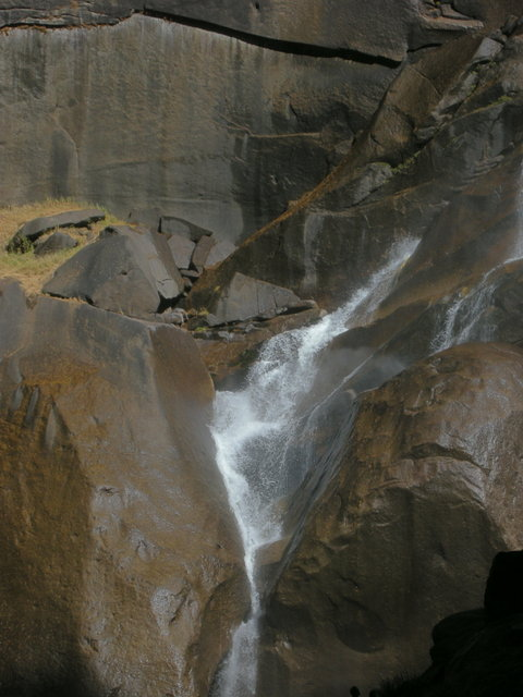Water below Vernal Fall