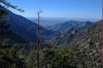 Looking down at San Antonio Canyon and the Pomona Valley