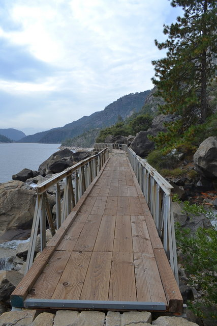 Bridge at Wapama Falls