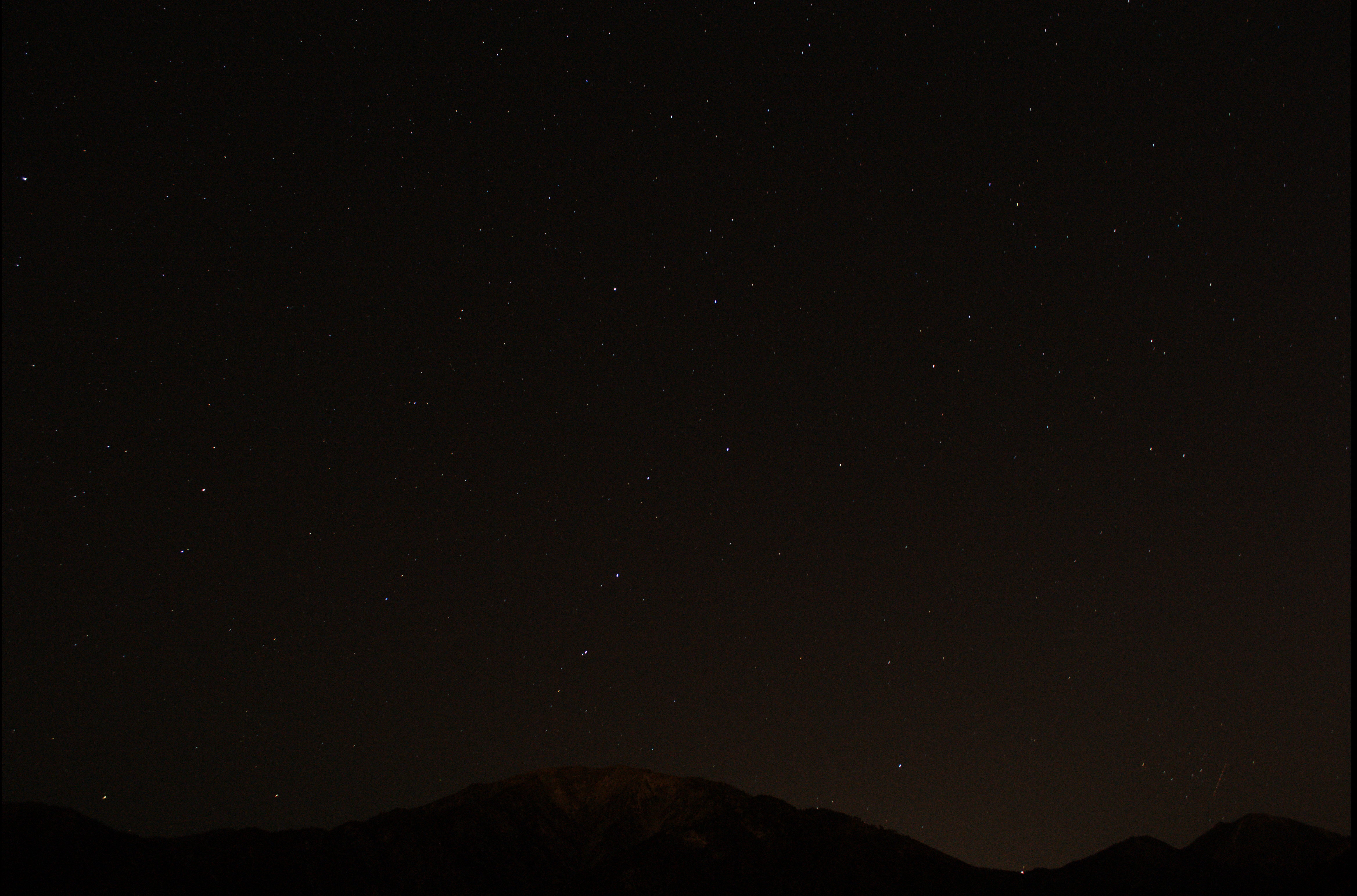 Same Geminid shot but from the raw file