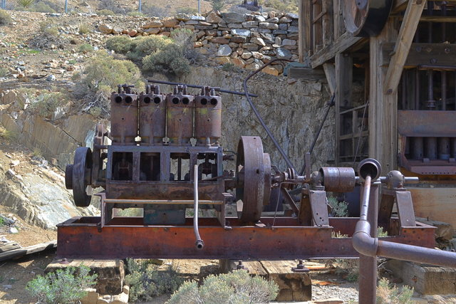 Old Steam Motor at the Lost Horse Mine