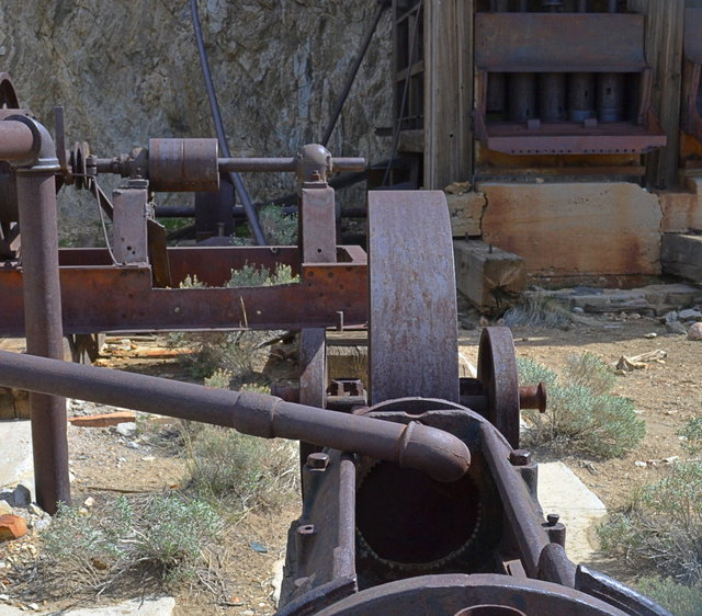 Steam powered equipment at the Lost Horse Mine