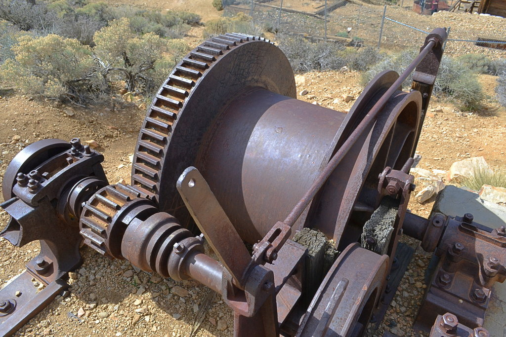 Equipment at the Lost Horse Mine