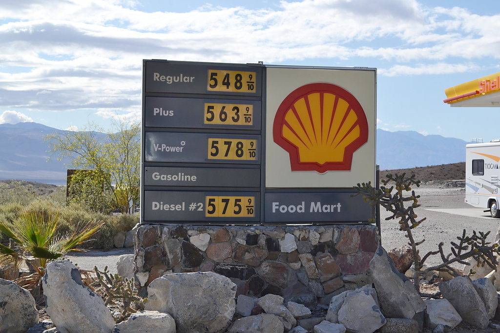 Gas Prices at Panamint Springs