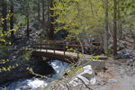 Footbridge over north fork of Big Pine Creek