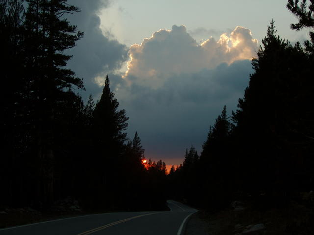 Sunset Near Tuolumne Meadows