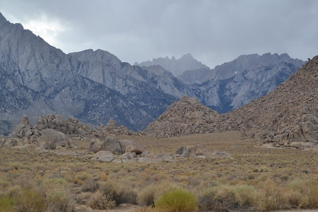 Rain on Mt. Whitney