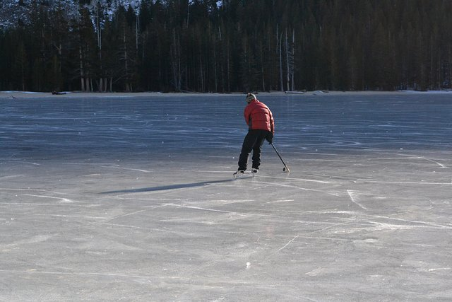 Hockey on Tenaya Lake