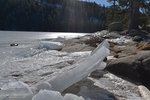 Ice slabs on the shore of Tenaya Lake