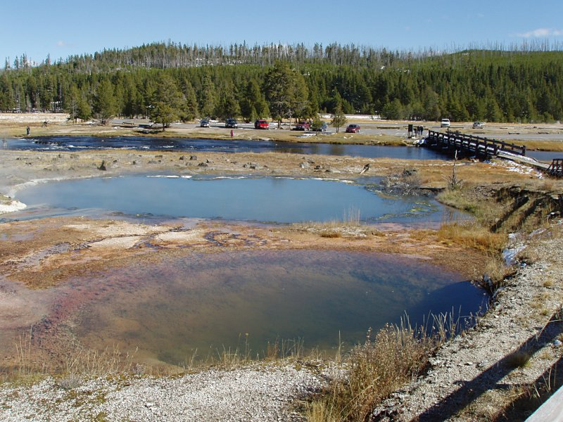 Pools and Firehole River, Biscuit Geyser Basin