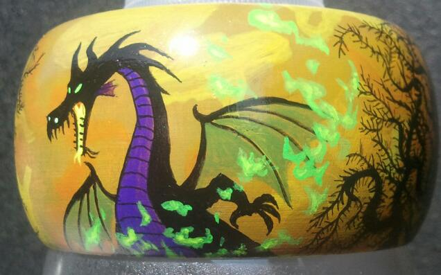 Maleficent Dragon Bracelet view 3.... Not for sale!