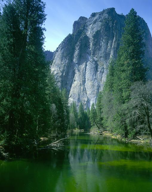 Merced River and Yosemite Valley Wall